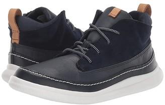 Clarks Cloud Air (Little Kid) (Navy Leather) Boy's Shoes