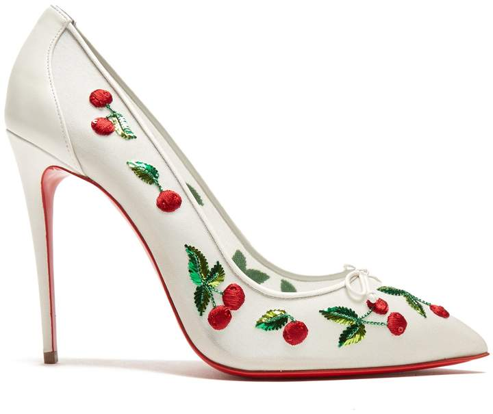 Christian Louboutin Cherry 100mm embellished pumps