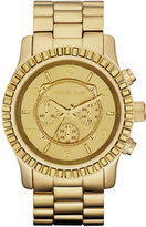 Michael Kors  Dip-Dyed Classic Oversized Runway Watch, Gold