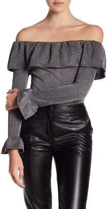 Endless Rose Off-the-Shoulder Ruffle Bodysuit