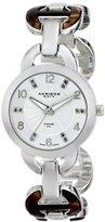 Akribos XXIV Women's AK699SS Lady Diamond Silver-Tone Watch with Two-Tone Bracelet