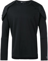 Y-3 structured shoulder T-shirt - men - Cotton/Polyamide/Polyester/Spandex/Elastane - M