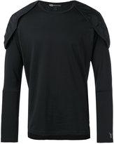 Y-3 structured shoulder T-shirt - men - Polyester/Cotton/Polyamide/Spandex/Elastane - M