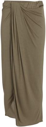 Helmut Lang Draped Jersey Midi Skirt