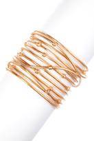 Rivka Friedman 18K Rose Gold Clad Bold Satin Mina Cuff Bracelet