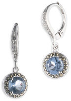 Judith Jack Cubic Zirconia, Marcasite and Sterling Silver Drop Earrings