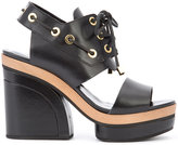 Pierre Hardy cut out platform sandals - women - Calf Leather/Leather - 36