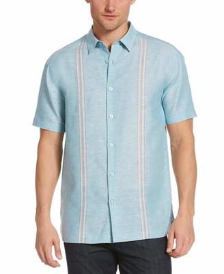 Cubavera Two-Tone Narrow Panel Shirt