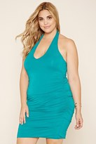 Forever 21 FOREVER 21+ Plus Size Ruched Halter Dress