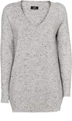 Wallis Grey V Neck Knitted Jumper