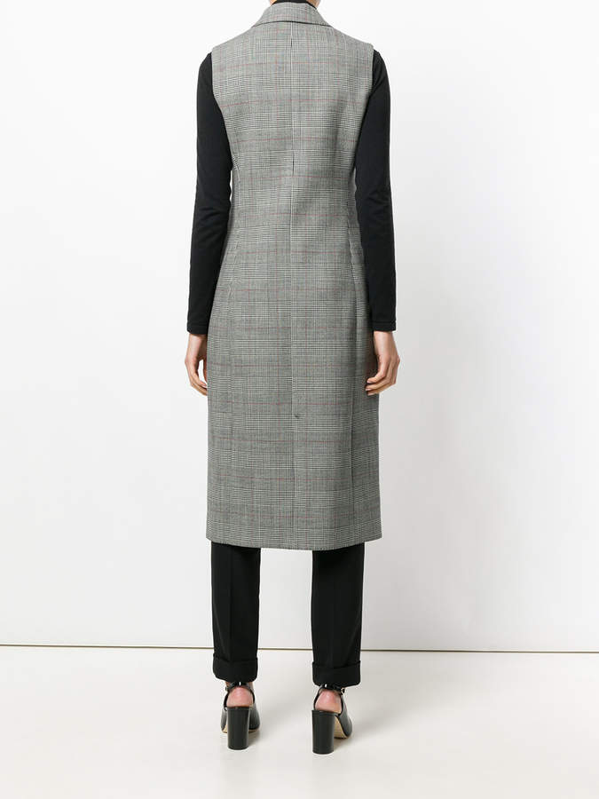 Paule Ka double breasted button front plaid dress