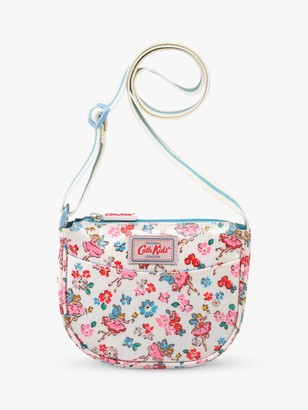 Cath Kidston Cath Kids Children's Faries Half Moon Handbag, Oyster Shell