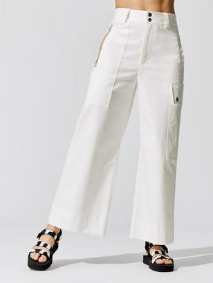 Proenza Schouler Cotton Belted Cargo Pant