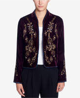 Catherine Malandrino Winstead Embroidered Velvet Jacket