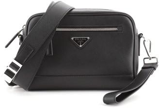 Prada Convertible Zip Crossbody Bag Saffiano Leather Small