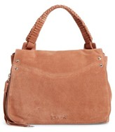 Elizabeth and James Small Trapeze Leather Satchel - Beige