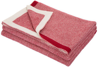 "Glitzhome,Llc 60"" Knitted Acrylic Red/White Throw Blanket"