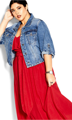 City Chic Romantic Tie Dress - red