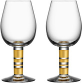 Kosta Boda Orrefors Morberg Red Wine Glasses, Set of 2