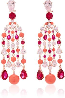 Anabela Chan Coral Raindrop Earrings