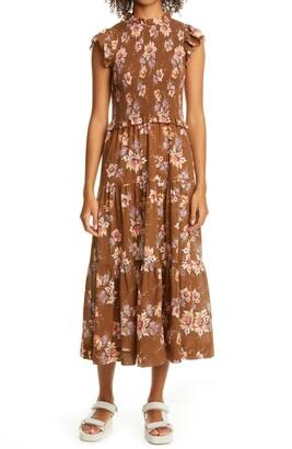 Sea Sylvie Floral Smocked Dress