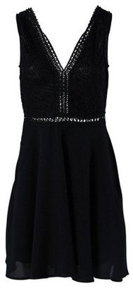 Dorothy Perkins Womens *Izabel London Black Lace Skater Dress, Black