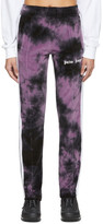 Palm Angels Black and Purple Chenille Tie-Dye Track Pants