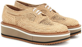 Clergerie Birdie raffia flatform Derby shoes