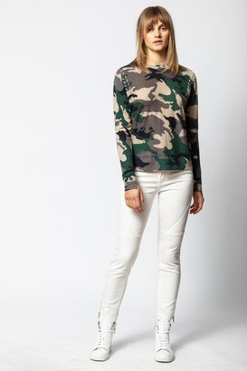 Zadig & Voltaire Crisp Cashmere Camou Sweater