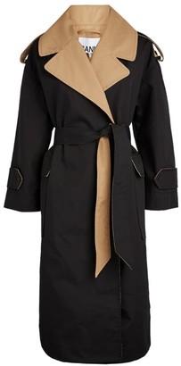 Ganni Contrast Collar Coat