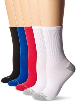 Fruit of the Loom Women's 6 Pack Crew Socks