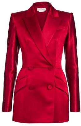 Alexander McQueen Double Breasted Silk Blazer Jacket