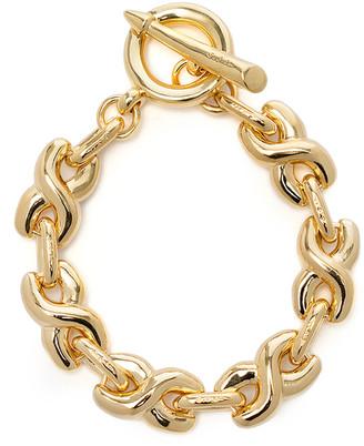 S.SIL 14K Gold-Plated Twisted Bold Link Bracelet