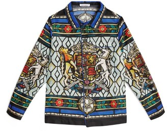 Dolce & Gabbana Kids Royal King Print Silk Shirt (2-6 Years)