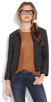 Leatherbound wool blazer