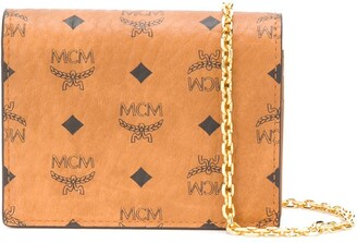 MCM Logo-Print Mini Cross Body Bag