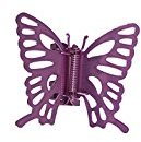 Caravan Metal Butterfly Claw Hand Painted in Soft Pink