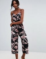 Warehouse Floral Silk Jumpsuit