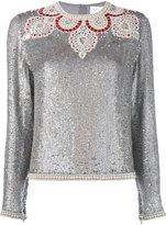 Ashish bead embellished sequin top
