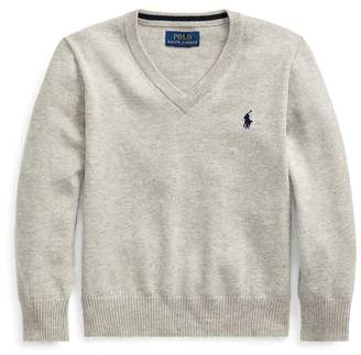 Ralph Lauren Cotton V-Neck Jumper