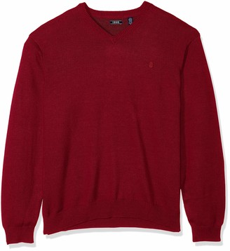 Izod Men's Big Premium Essentials Solid V-Neck 12 Gauge Sweater