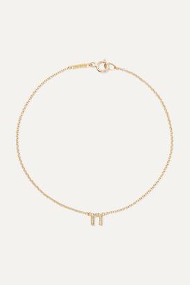 Jennifer Meyer Letter 18-karat Gold Diamond Bracelet - B