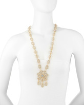 Fragments for Neiman Marcus Golden Pave Flower Necklace