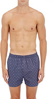 Sunspel Men's Medallion Cotton Boxers-NAVY