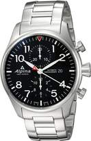 Alpina Men's 'Startimer' Swiss Automatic Stainless Steel Casual Watch, Color:Silver-Toned (Model: AL-725B4S6B)