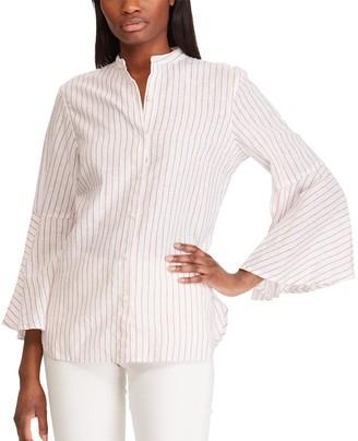 Chaps Women's Bell Sleeve Linen-Blend Shirt