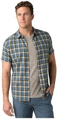Prana Bryner Slim Fit Shirt (Dark Khaki) Men's Short Sleeve Button Up