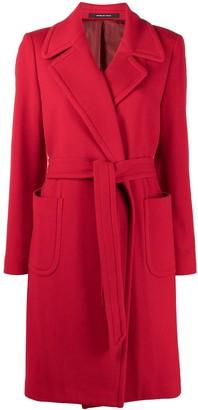 Tagliatore Long Sleeve Belted Coat