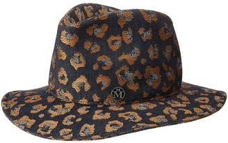 Maison Michel Enrico jacquard fedora hat