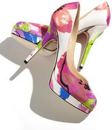 Jimmy Choo Lira Floral-Print Platform Pump